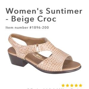 SAS Suntimer Beige Croc Sandals Shoes size 8